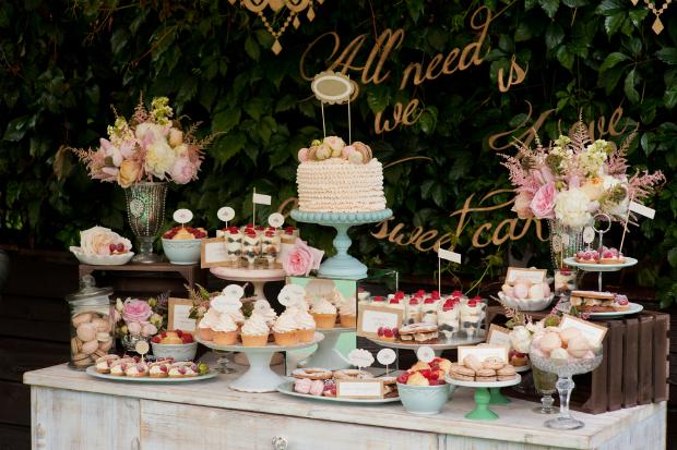 Candy bar - Barra dulce para una boda
