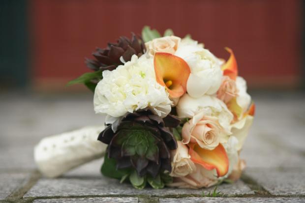 Bodas en otoño ramo novia