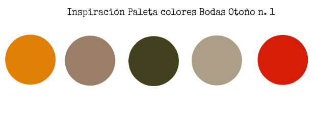 Bodas en otoño paleta colores 1