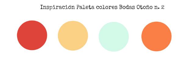Bodas en otoño paleta colores 2