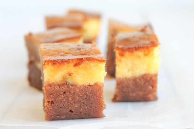 Receta Brownie cheesecake