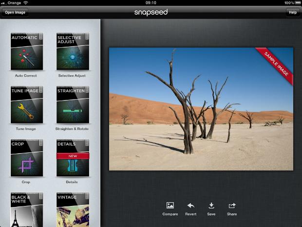 Programas para retocar fotos Snapseed