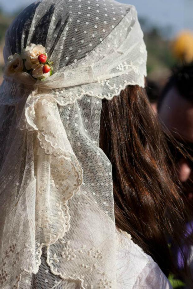 vestido de novia hippie