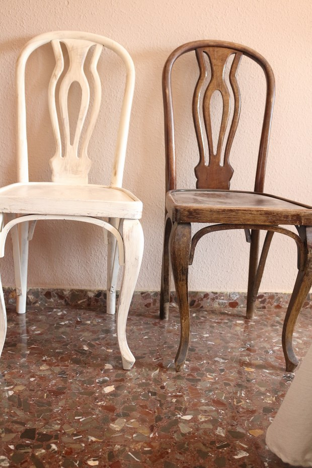 Como pintar un mueble antiguo la with como pintar un for Que es un canape mueble
