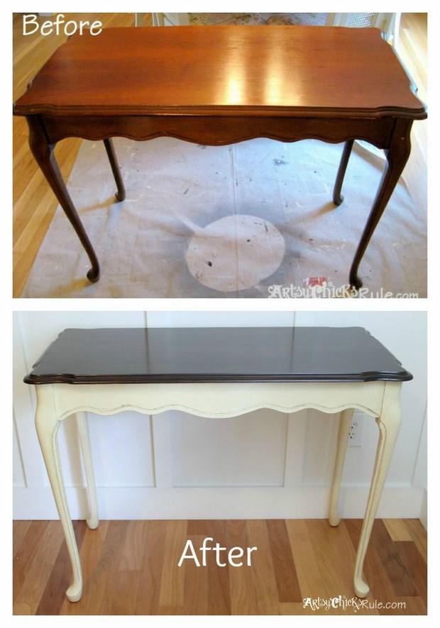 Pintar una mesa vieja