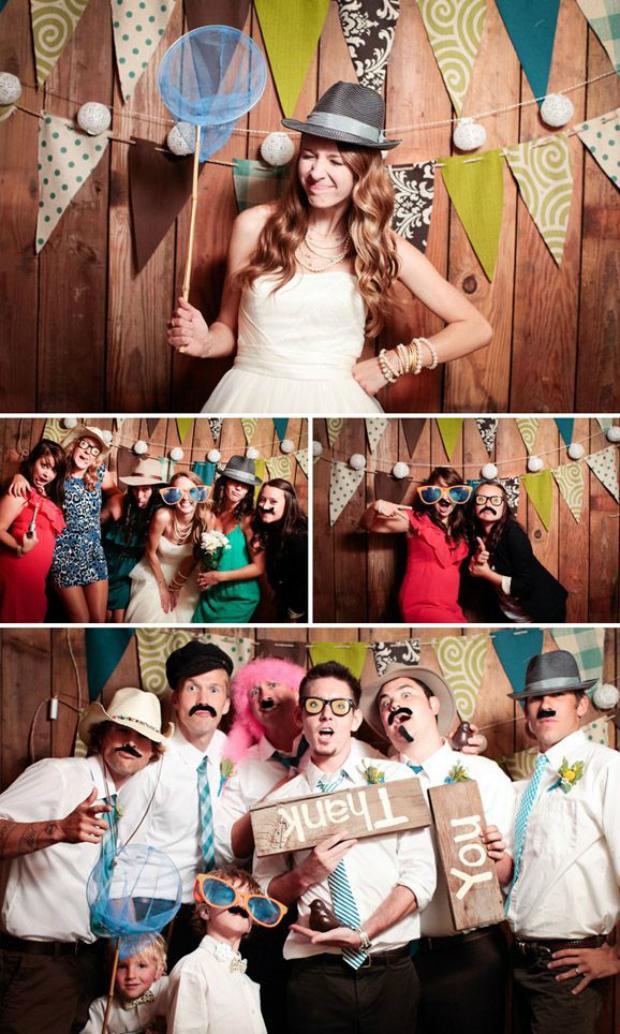 Photocall en una boda