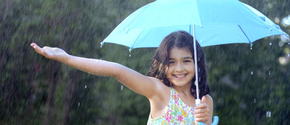 verano con lluvia