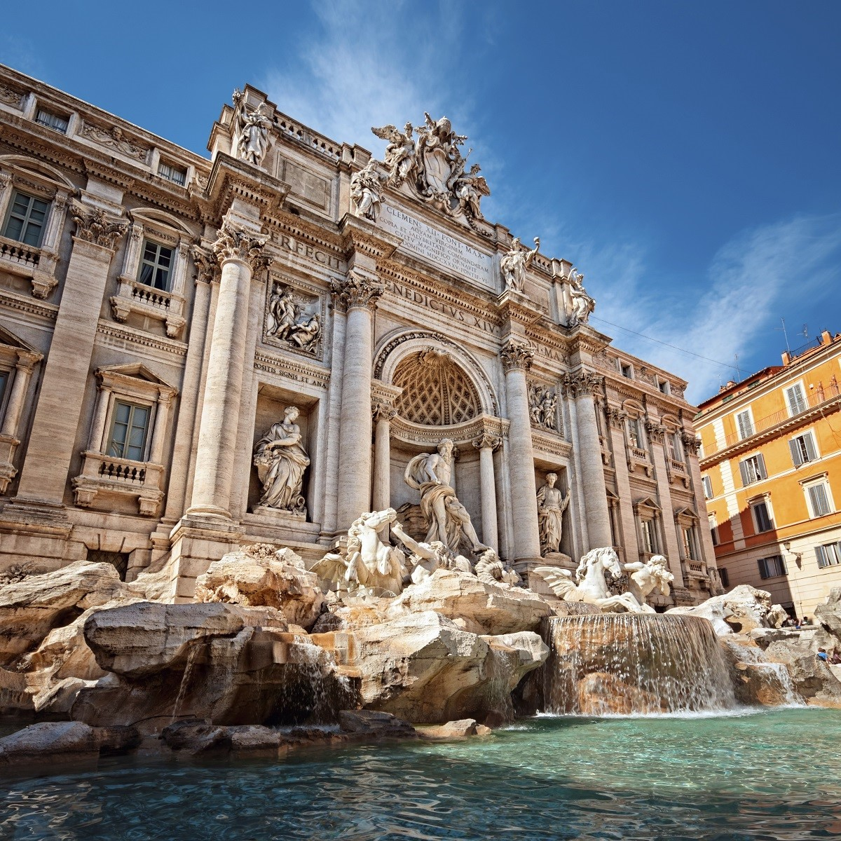 Trevi Fountain (Fontana di Trevi) is one of the most famous landmark in Rome.