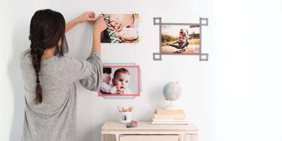 decorar con fotos asimetricas