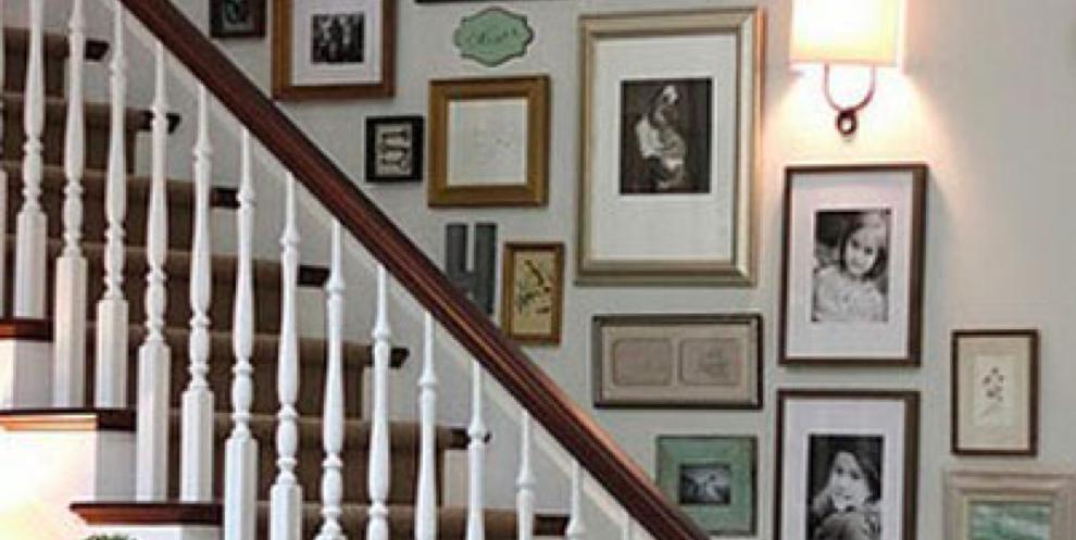 decorar pared con fotos