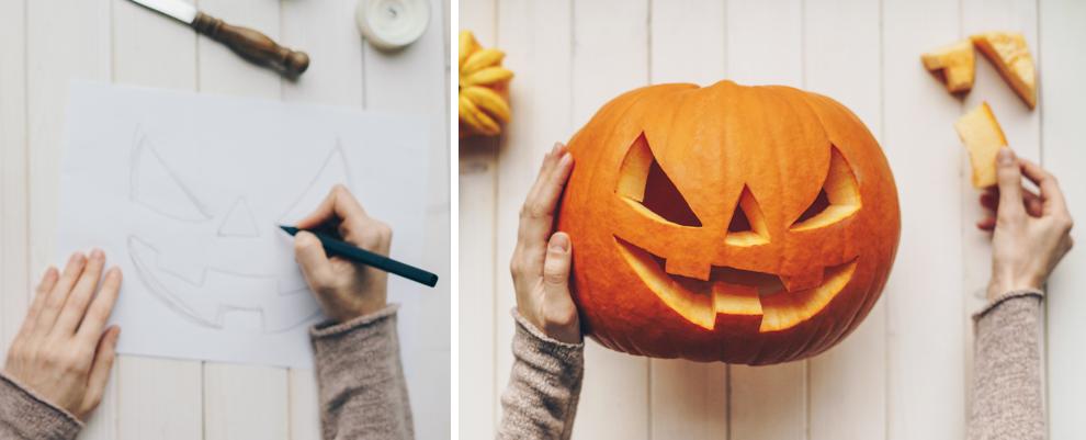 cómo hacer una calabaza para halloween
