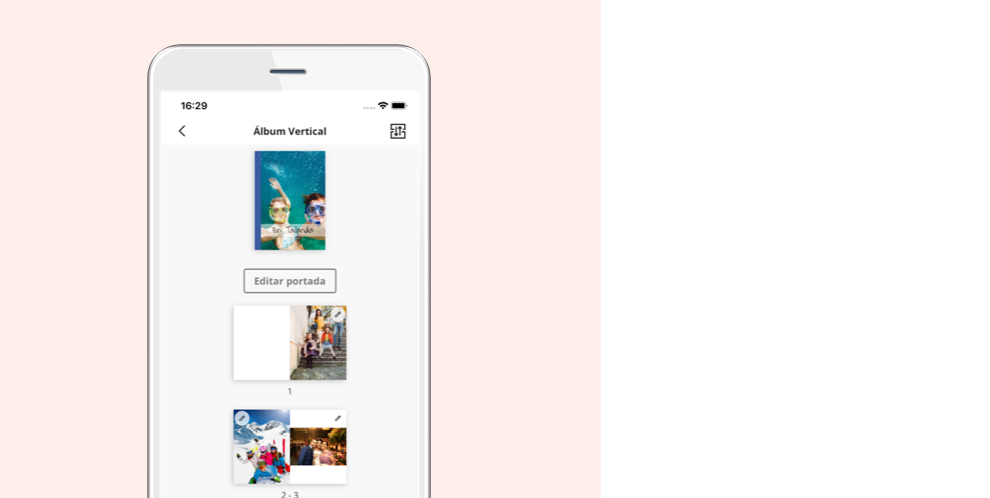 crear album de fotos - app movil hofmann