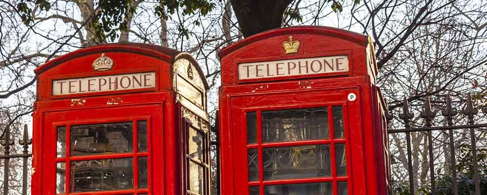 cabinas de telefono en Londres