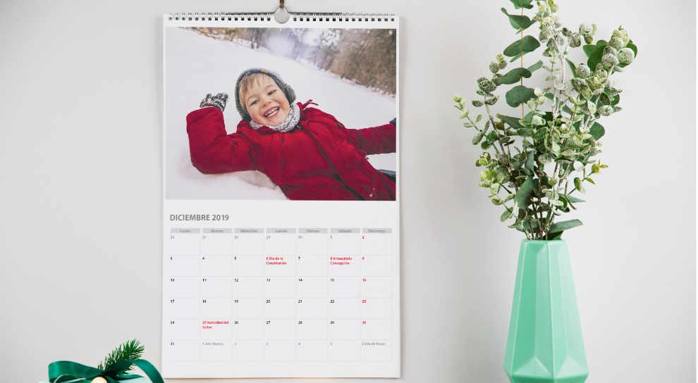 cómo hacer calendario con fotos personales