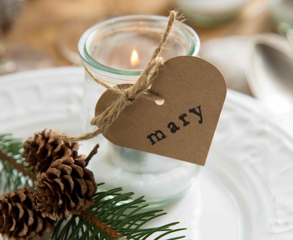 personalizar la mesa de navidad