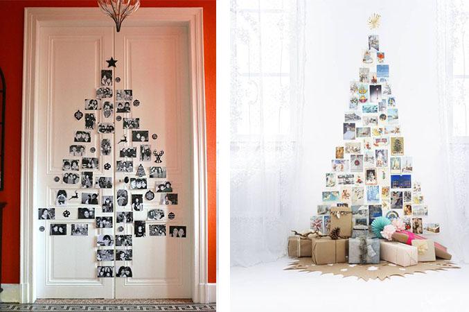 Navidad diy rbol de navidad con fotograf as - Arbol de navidad fotos ...