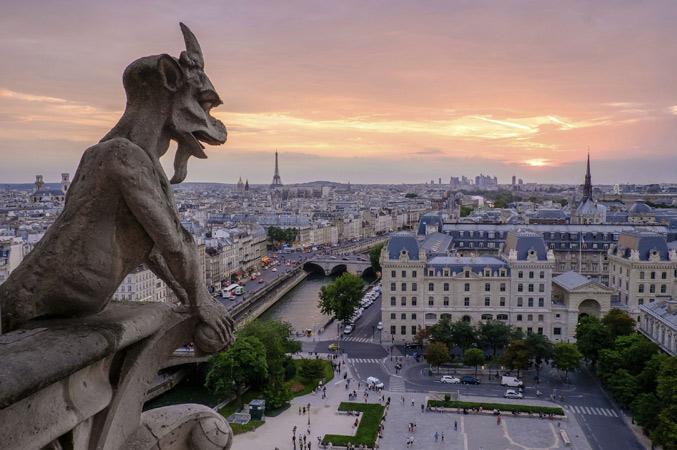 Paris gargola Notre Dame