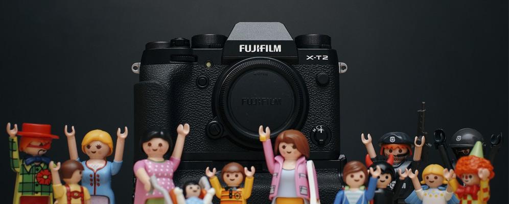 familia play mobil - Camara fotografica