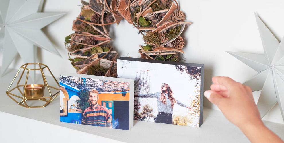 Bloque de madera - regalo Navidad original