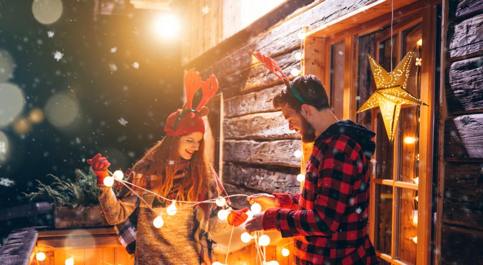 decoracion luces navidad original