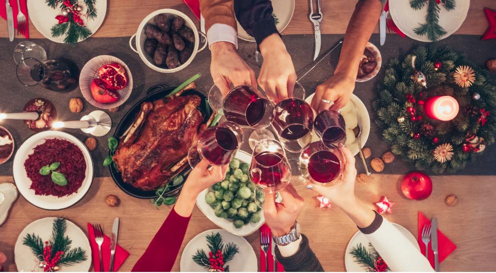 decorar mesa navidad original