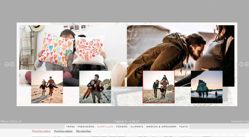 como hacer album de fotos digital