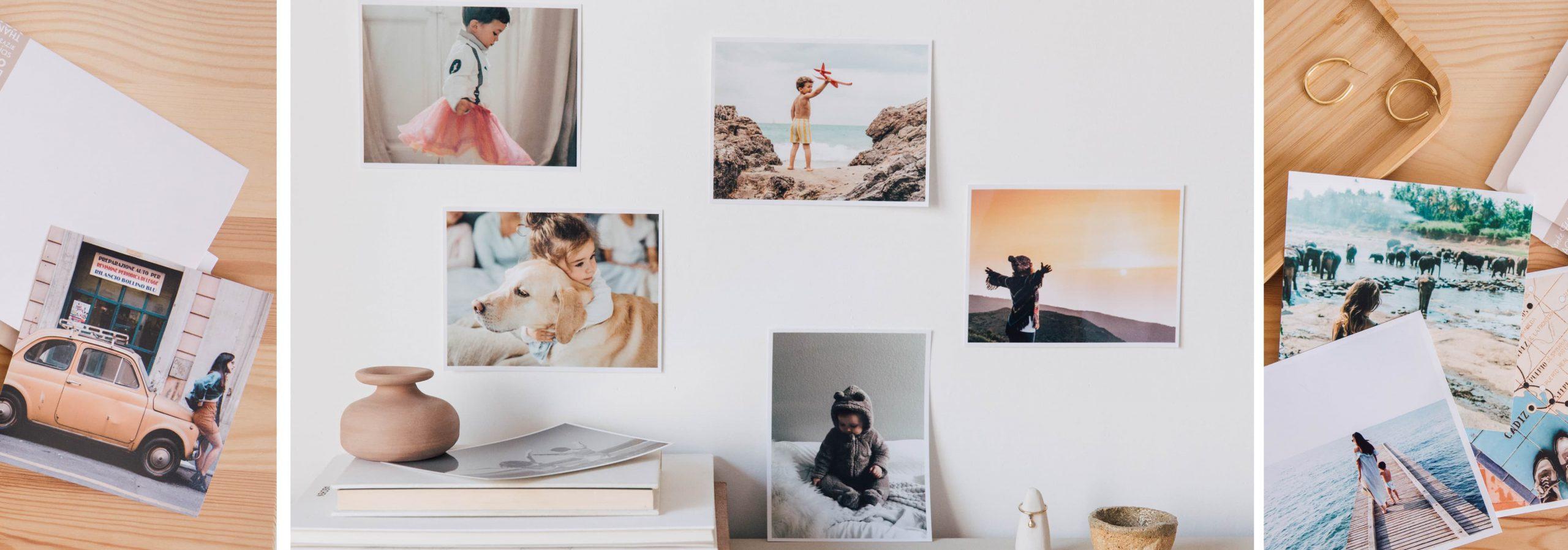 decorar fotos pared