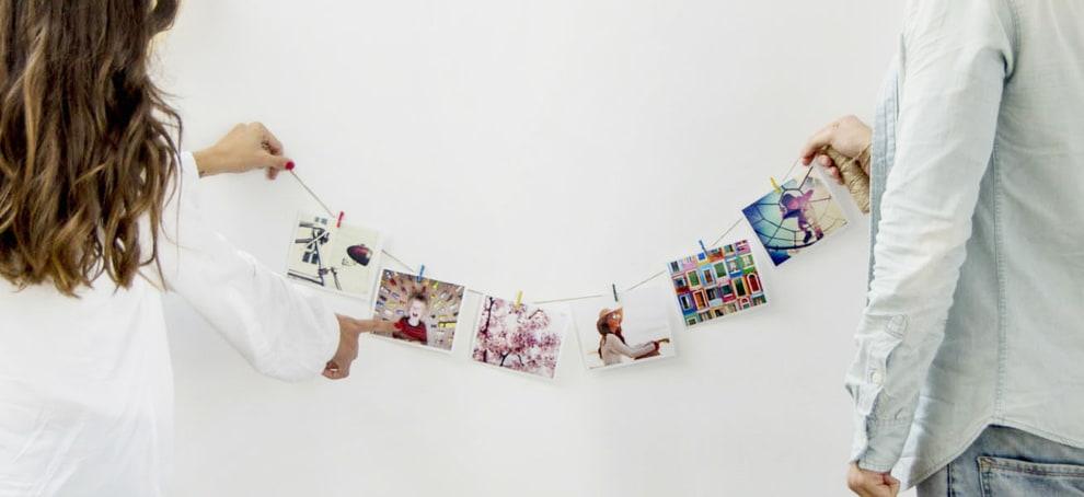 decorar con fotos la pared
